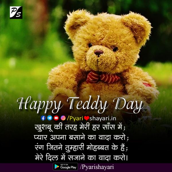 teddy day quotes in hindi